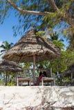 Der Strand bei Paje, Sansibar Stockfotografie