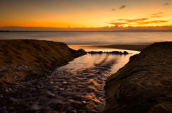 Der Strand bei Stoupa stockfotografie