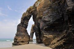 Der Strand der Kathedralen (Spanien) stockfotografie