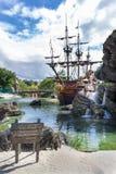 Der Strand des Piraten Stockbild