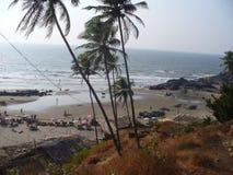 Der Strand in GOA - INDIEN lizenzfreies stockfoto