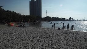 Der Strand in Nord-Jakarta stock video footage
