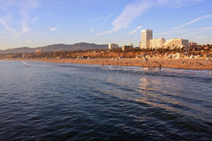 Der Strand in Santa Monica, Kalifornien Stockbild