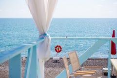 Der Strand in Sochi Adler-Bezirk Juni 2018 Stockfotos