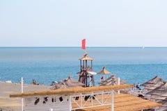 Der Strand in Sochi Adler-Bezirk Juni 2018 Lizenzfreies Stockfoto