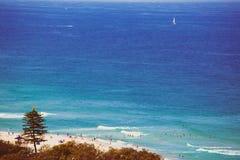 Der Strand und die Landschaft im Surfer-Paradies auf dem Gold Coast Stockbilder