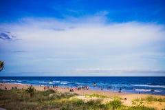 Der Strand und die Landschaft im Surfer-Paradies auf dem Gold Coast Lizenzfreie Stockfotos