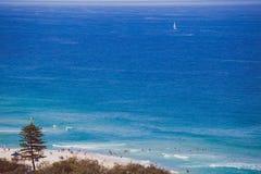 Der Strand und die Landschaft im Surfer-Paradies auf dem Gold Coast Stockfotografie