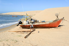 Der Strand von Barra de Valizas in Uruguay Lizenzfreie Stockfotos