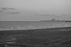 Der Strand von Castellon Stockfotos