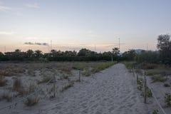 Der Strand von Castellon Lizenzfreies Stockfoto