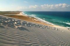 Der Strand von Deleisha in Socotrainsel Lizenzfreies Stockfoto