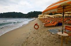 Der Strand von Fetovaia - Elba Stockbild