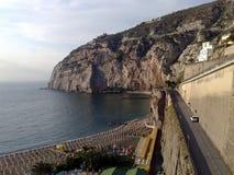 Der Strand von Meta--Di Sorrent in Italien lizenzfreie stockfotos