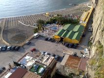 Der Strand von Meta--Di Sorrent in Italien stockfoto