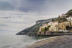 Der Strand von Positano, in lizenzfreie stockfotografie