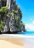 Der Strand von Puerto Princesa, Philippinen Stockbild