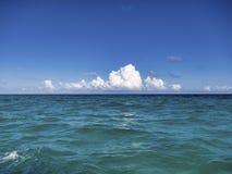 Der Strand von Tulum - Mexiko lizenzfreie stockbilder