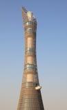 Der strebenkontrollturm in Doha Stockbilder