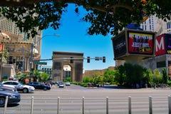 Der Streifen in Las Vegas am Sommertag, Las Vegas Stockfotografie