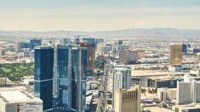 Der Streifen von Las Vegas - Hotels Aereal-Ansicht Stockfotos