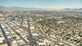 Der Streifen von Las Vegas - Hotels Aereal-Ansicht Lizenzfreie Stockfotografie