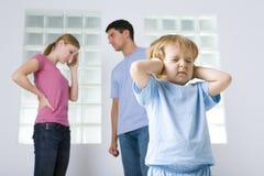 Der Streit der Familie Stockbild