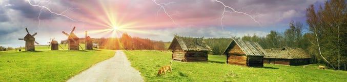 Der Sturm über Windmühlen Lizenzfreie Stockfotografie