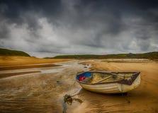 Der Sturm bei Abeffraw, Anglesey, Wales Stockbild