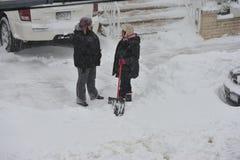 Der Sturm des Schnees Juno Lizenzfreie Stockbilder