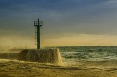 Der Sturm in Meer Stockbilder