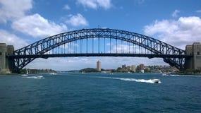 Der Sydney Harbour Bridge NSW Australien lizenzfreie stockfotos