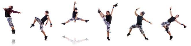 Der Tänzer lokalisiert auf dem weißen Hintergrund Lizenzfreie Stockfotografie