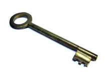 Der Türschlüssel auf weißem Hintergrund Lizenzfreie Stockbilder