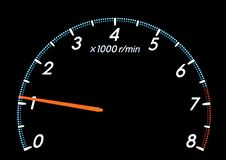 Der Tachometer des Fahrzeugs lizenzfreie stockbilder