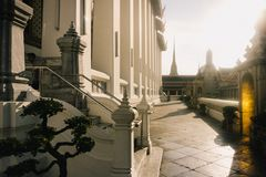 Der Tag in Bangkok, Thailand, Wat Po Temple stockfotos