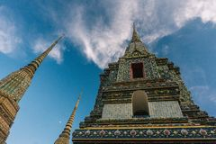 Der Tag in Bangkok, Thailand, Wat Po Temple stockbild