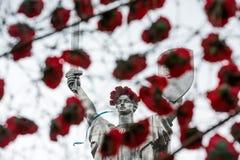 Der Tag der Erinnerung und der Versöhnung in Kiew Stockbild