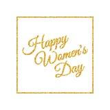 Der Tag der glücklichen Frauen gold Stockfotos
