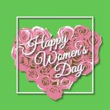 Der Tag der glücklichen Frauen Rose Stockbilder