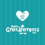 Der Tag der Großeltern Lizenzfreies Stockfoto