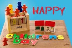 Der Tag der internationale Kinder am 1. Juni Stockbilder
