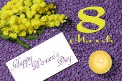 Der Tag der internationalen Frauen Stockbilder