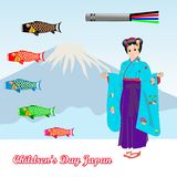 Der Tag Japan der Kinder lizenzfreie abbildung