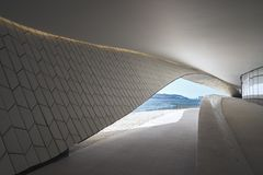Der Tajo - Ansicht vom Tajo, vom Nordrand, in Lissabon, Portugal Stockfotografie