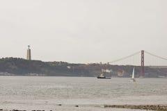Der Tajo in Lissabon Stockbilder