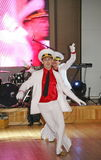 Der Tanz des Seemanns, den das Bullauge durch Tänzer durchführte, Schauspieler der Truppe des St- Petersburgstaatsauditoriums Stockfotografie