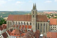 Der Tauber Alemanha do ob de Rothenburg Fotos de Stock