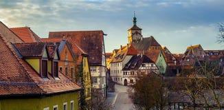 Der Tauber, Alemania del ob de Rothenburg Fotos de archivo