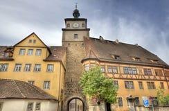 Der Tauber, Alemania del ob de Rothenburg Fotografía de archivo libre de regalías